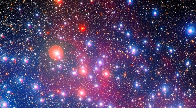 Spectacular 'Wishing Well' star cluster displayed on video
